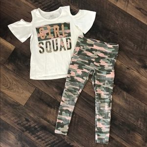 Justice Girl Squad Camo Outfit